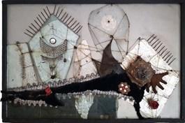 Obraz do salonu artysty Władysław Hasior pod tytułem Srebrny książe