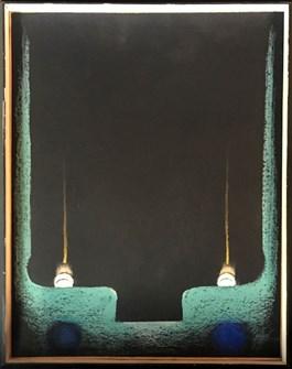 Obraz do salonu artysty Jan Berdyszak pod tytułem Teren dla odchodzacego swiatła