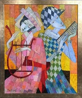 Obraz do salonu artysty Jan Bonawentura Ostrowski pod tytułem Zauroczenie muzyczne