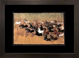 Obraz do salonu artysty Józef Wilkoń pod tytułem Koniki