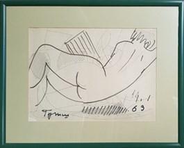 Obraz do salonu artysty Tymon Niesiołowski pod tytułem Akt kobiecy