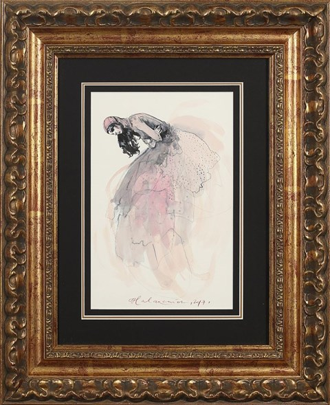 Obraz do salonu artysty Anna Halarewicz pod tytułem Dziewczyna i smutek