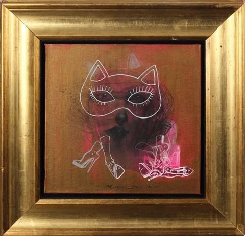 Obraz do salonu artysty Anna Halarewicz pod tytułem Bez tytułu z cyklu Masqerade