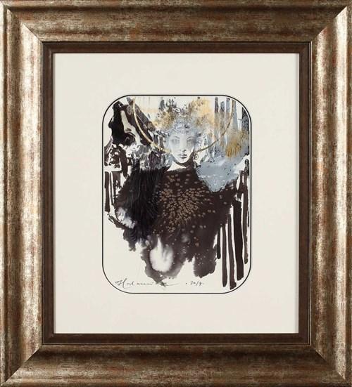 Obraz do salonu artysty Anna Halarewicz pod tytułem Czarno-złota