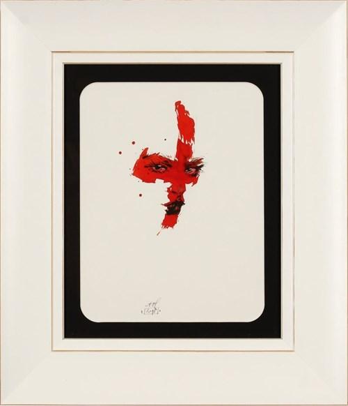 Obraz do salonu artysty Anna Halarewicz pod tytułem Akwarela z czerwienią