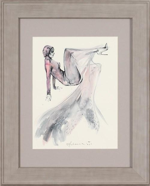 Obraz do salonu artysty Anna Halarewicz pod tytułem Dama w sukni