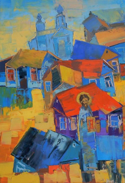 Obraz do salonu artysty Daniel Gromacki pod tytułem Chrystus na Podlasiu