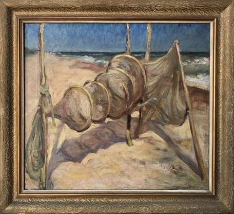 Obraz do salonu artysty Józef Mularczyk pod tytułem Rybackie sieci