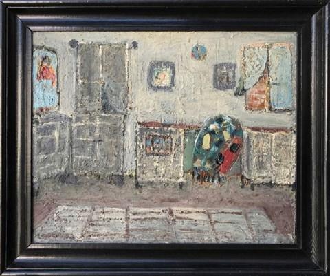 Living room painting by Wanda Denise Skopowska titled Interior