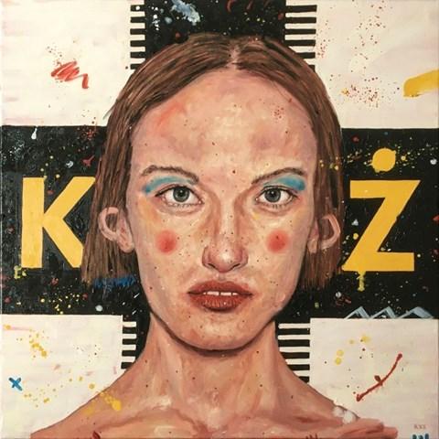 Obraz do salonu artysty Grzegorz Kufel pod tytułem Krzyż