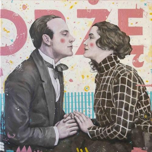 Obraz do salonu artysty Grzegorz Kufel pod tytułem Drżę