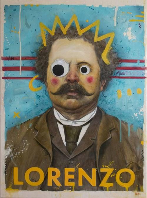 Obraz do salonu artysty Grzegorz Kufel pod tytułem Lorenzo