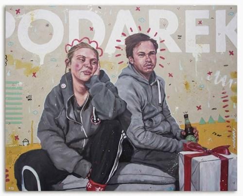 Obraz do salonu artysty Grzegorz Kufel pod tytułem Podarek