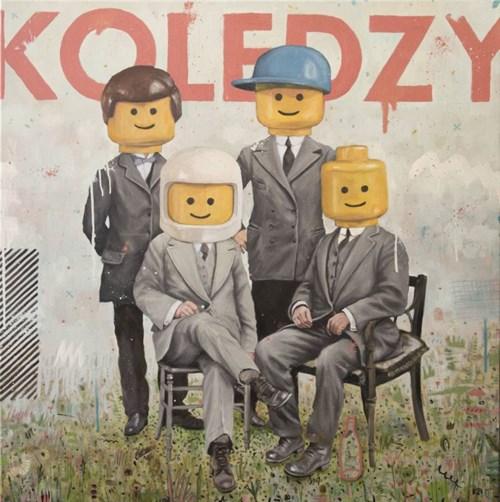 Obraz do salonu artysty Grzegorz Kufel pod tytułem Koledzy