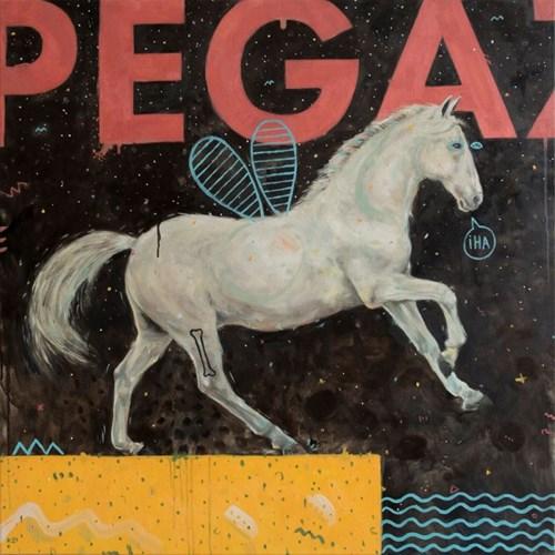 Obraz do salonu artysty Grzegorz Kufel pod tytułem Pegaz