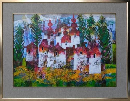 Obraz do salonu artysty Alicja Słaboń-Urbaniak pod tytułem Kaczeńce