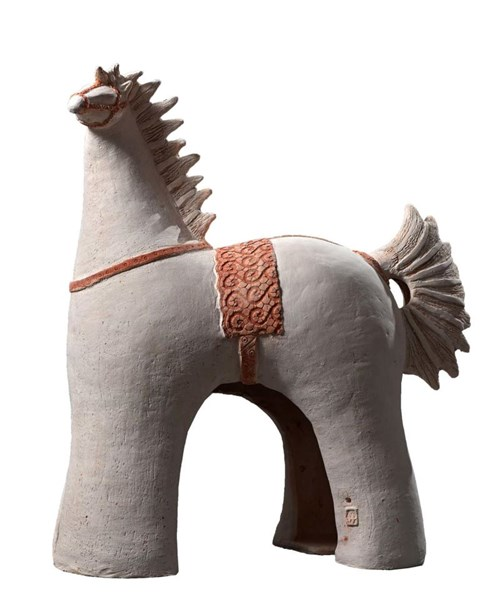 Rzeźba do salonu artysty Marta Wasilczyk pod tytułem Koń Wikiński