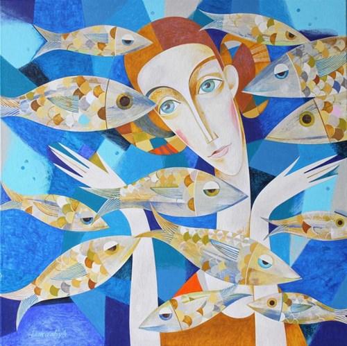 Obraz do salonu artysty Neli Lukashyk pod tytułem Duże Akwarium
