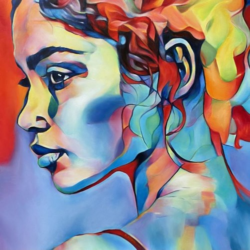 Obraz do salonu artysty Hanna Kłopotowska pod tytułem Patrząc wstecz - patrząc w przyszłość