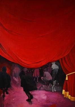 Living room painting by Teresa Legierska titled Yesterday Hasn't Come Yet