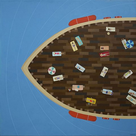 Obraz do salonu artysty Paulina Rychter pod tytułem Statek