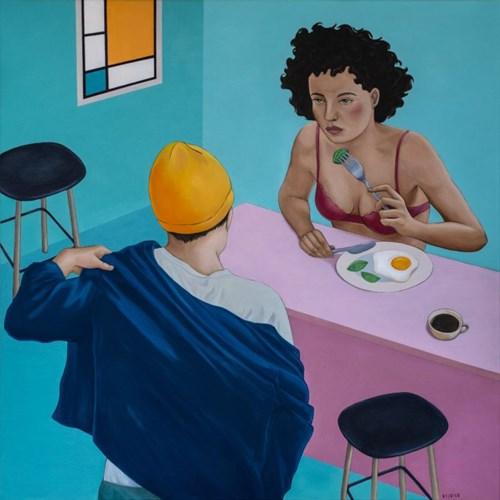 Obraz do salonu artysty Paulina Rychter pod tytułem Śniadanie