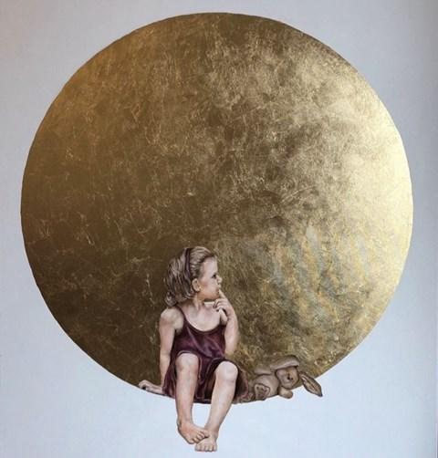 Obraz do salonu artysty Joanna  Czajkowska pod tytułem Dziewczynka z maskotką