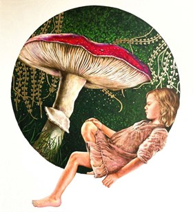 Girl with a Toadstool
