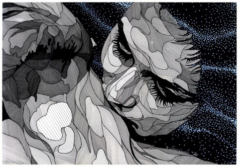 Obraz do salonu artysty Bartek  Niewiadomski pod tytułem Noc jest młoda