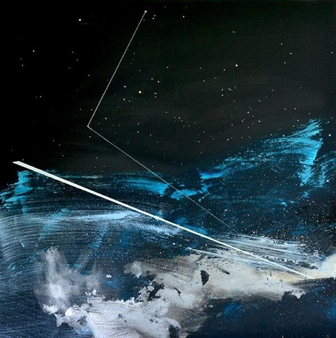 Obraz do salonu artysty Agata Kosmala pod tytułem Gwiazdozbiór delfina