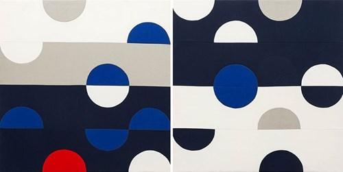 Obraz do salonu artysty Anna Panek pod tytułem Od do (dyptyk)