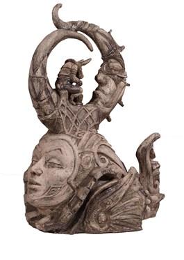 Living room sculpture by Mariusz Szewczyk titled Head