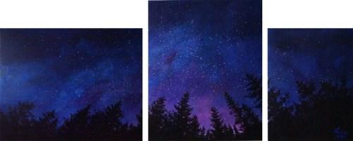 Obraz do salonu artysty Klaudia Krupa pod tytułem Bajeczna noc (tryptyk)