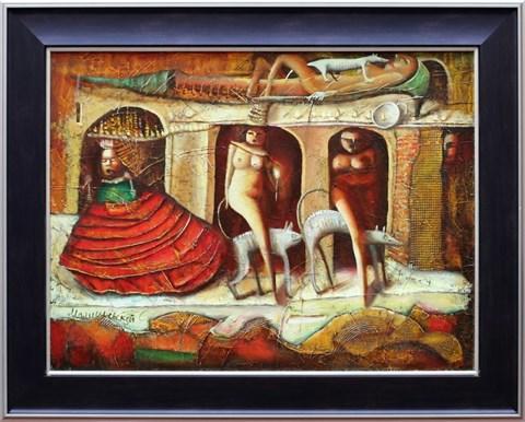 Living room painting by Sergiusz Maliszewski titled Coronation