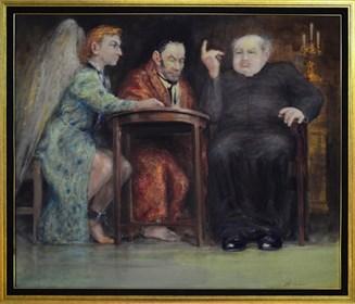 Obraz do salonu artysty Daniel Pielucha pod tytułem Kazanie