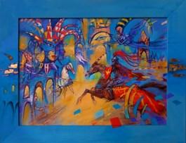 Obraz do salonu artysty Eugeniusz Ochonko pod tytułem Podróże w nieznane