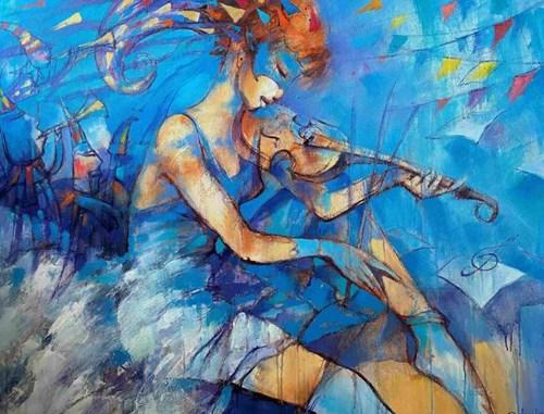 Obraz do salonu artysty Eugeniusz Ochonko pod tytułem Investigasion de la musica