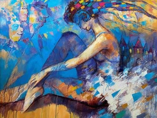 Obraz do salonu artysty Eugeniusz Ochonko pod tytułem Suenos del baile I