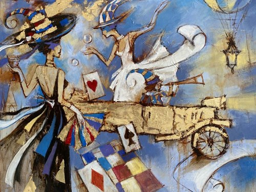 Obraz do salonu artysty Eugeniusz Ochonko pod tytułem Epoca de la Belleza