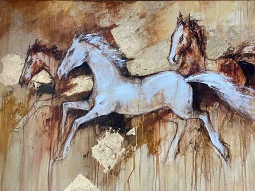 Obraz do salonu artysty Eugeniusz Ochonko pod tytułem La Carrera de la libertad