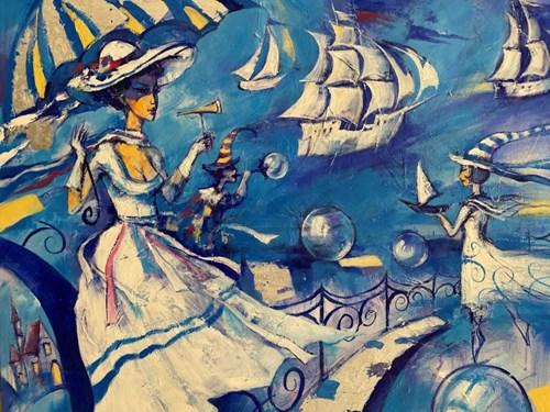 Obraz do salonu artysty Eugeniusz Ochonko pod tytułem Suenos del Mar