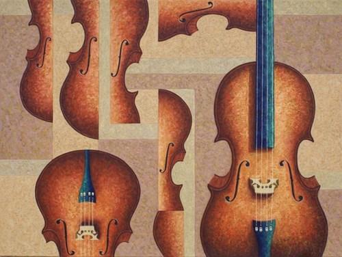 Obraz do salonu artysty Zbigniew Blekiewicz pod tytułem Sonata 1 op.5