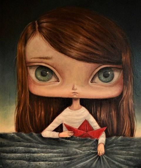Obraz do salonu artysty Paulina  Góra pod tytułem Czerwona łódka