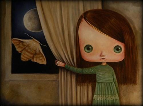 Obraz do salonu artysty Paulina Góra pod tytułem Księżyc i ćma