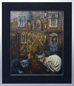 Obraz do salonu artysty Maciej Urbaniak pod tytułem Koty z Bergamo