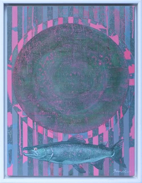 Obraz do salonu artysty Andrzej Borowski pod tytułem Martwa natura z rybą
