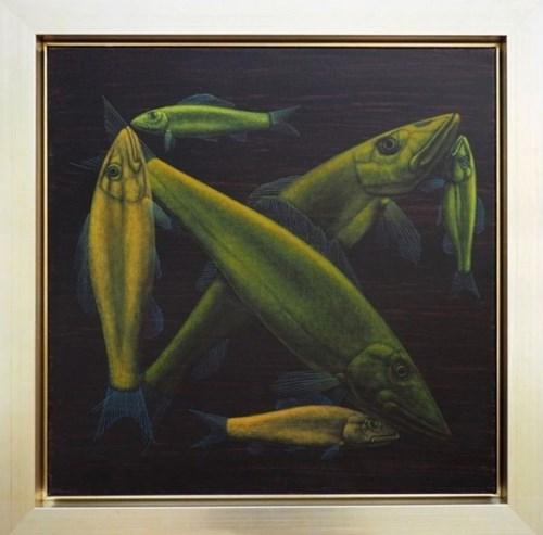 Obraz do salonu artysty Rafał Eret pod tytułem Czułość ryb