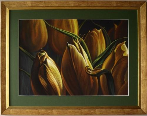 Obraz do salonu artysty Zbigniew Kotowski pod tytułem Złote tulipany