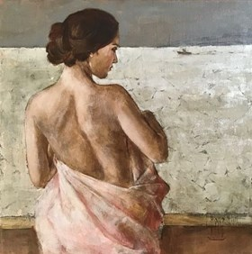 Nude With a Pink Towel