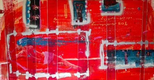 Obraz do salonu artysty Grzegorz Lerka pod tytułem Kompozycja w czerwieni